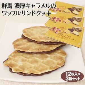 群馬 お土産 群馬 濃厚キャラメルのワッフルサンドクッキー 12枚×3個 群馬みやげ お土産 洋菓子 キャラメル チョコレート ワッフル サンド クッキー【冷蔵】
