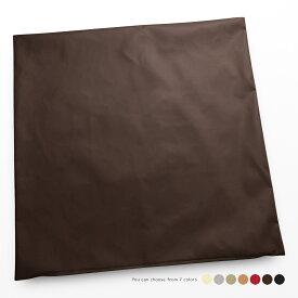 合皮のクッションカバー 約62×62cm R-24 フェイクレザー 素縫い仕様 ファスナー開閉式 ポリウレタン合成皮革 大きい 大きめ 日本製