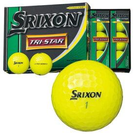 【コンビニ受取可】《あす楽》スリクソン TRI−STAR(トライスター) ボール (プレミアムパッションイエロー) [1ダース]