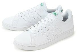 【セール】adidas(アディダス) ADVANCOURT BASE(アドバンコート ベース) EE7690 ホワイト/グリーン【交換・返品・ラッピング対象外】