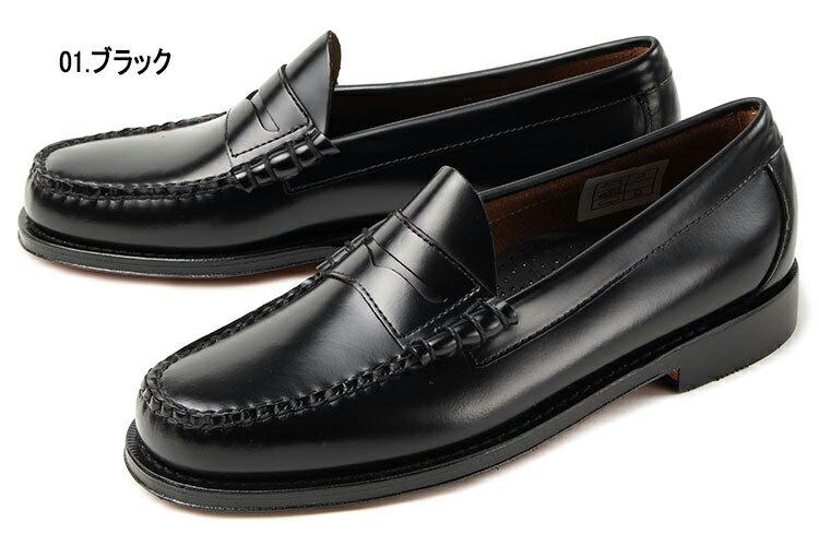 大きいサイズ 靴 G.H.Bass(G.H.バス) LARSON(ラーソン ペニーローファー) ブラック weejuns ビッグサイズ