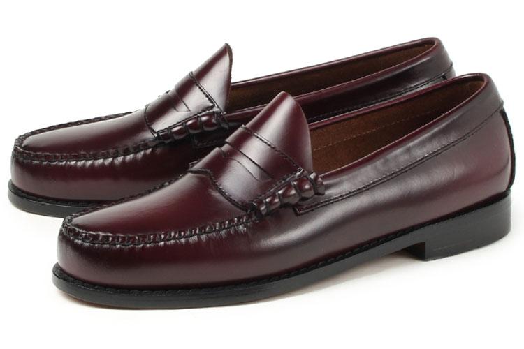 大きいサイズ 靴 G.H.Bass(G.H.バス) LARSON(ラーソン ペニーローファー) バーガンディ weejuns ビッグサイズ