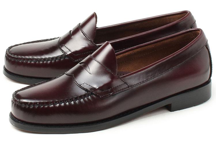 大きいサイズ 靴 G.H.Bass(G.H.バス) LOGAN(ローガン ペニーローファー) バーガンディ weejuns ビッグサイズ