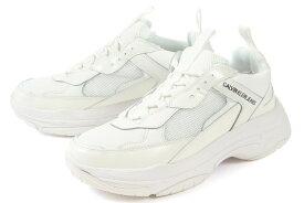 Calvin Klein Jeans(カルバンクライン ジーンズ) ダッドスニーカー MARVIN NYLON 34S0591-BRW ブライトホワイト