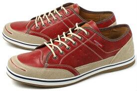 大きいサイズ 靴【28cm 29cm 30cm】AMERICANINO EDWIN(アメリカニーノ エドウィン) メンズ カジュアルスニーカー AE827 レッド ビッグサイズ