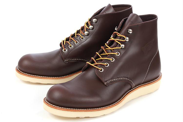 【エントリーでポイント5倍】大きいサイズ 靴 【28.5cm 29cm】 Red Wing(レッドウィング) CLASSIC WORK 6inch ROUND TOE(クラシックワーク 6インチ ラウンドトゥ) 8134 チョコレート ビッグサイズ