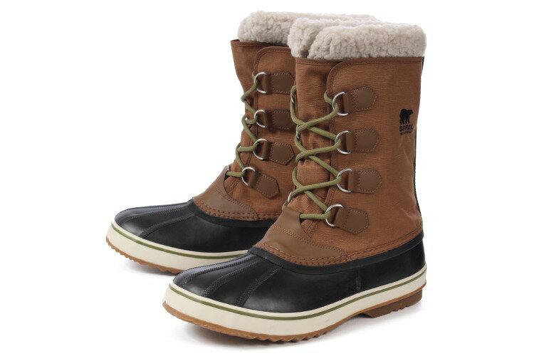 【エントリーでポイント5倍】大きいサイズ 靴【29cm 30cm】SOREL(ソレル) 1964 PAC NYLON(1964 パックナイロン) NM1440 260 ナツメグ/ブラック ビッグサイズ
