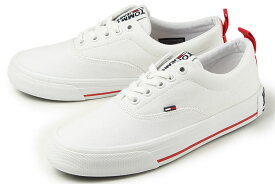 【SALE】 トミーヒルフィガー TOMMY JEANS(トミージーンズ) LOW CUT ESSENTIAL SNEAKER(ローカット エッセンシャル スニーカー) EN00794 YBS ホワイト