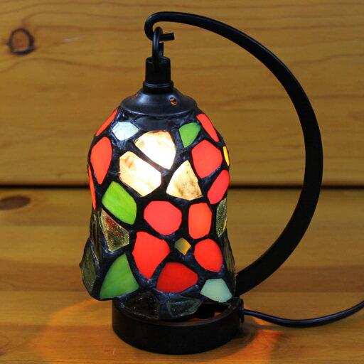 ステンドグラスランプ 小型吊り型1アーム ロザリー 12×h16.5 【照明・スタンド】