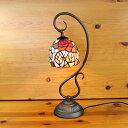 ステンドグラスランプ吊り型1アーム4色の薔薇の花(フェリシア)12×h41 【照明・スタンド】