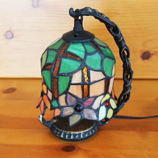 ステンドグラスランプ吊り型1アーム フラワーズ15.5×h19 【照明・スタンド】