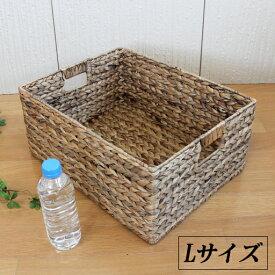 【サイズ:43×33×h19】ヒヤシンス 収納バスケット(ボックス)Lサイズ <ナチュラル>【手荷物入れ/かご】