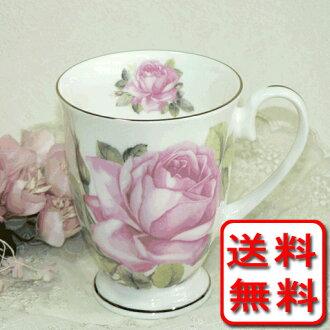 Slightly decorating with pink roses bone China Mug