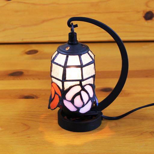 ステンドグラスランプ 小型吊り型1アーム アルケミストプチ 12×h16.5 【照明・スタンド】