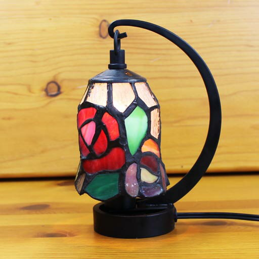 ステンドグラスランプ 小型吊り型1アーム エレン 12×h16.5 【照明・スタンド】