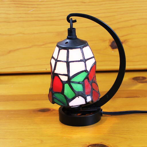 ステンドグラスランプ 小型吊り型1アーム ロージィ 12×h16.5 【照明・スタンド】
