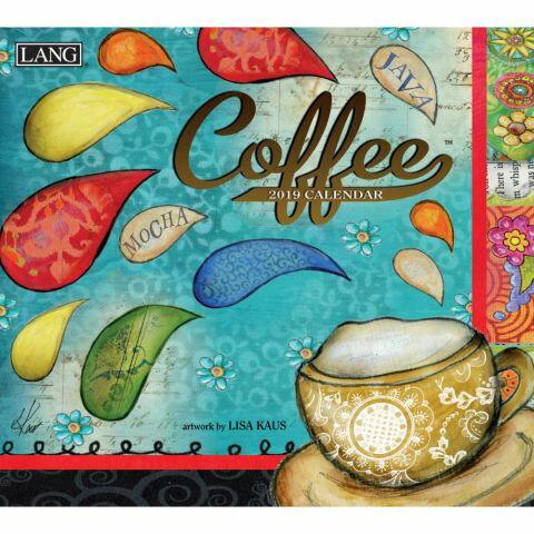 【送料無料】【一緒に買って送料無料】2019年 LANG社(ラング)カレンダー コーヒー (Coffee)