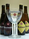 ウェストマール・ダブル&トリプル (トラピスト) 330ml×4本飲み比べビールセット 【ウエストマール聖杯グラス(3…