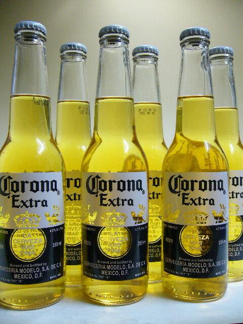 コロナ・エキストラ(コロナビール) 355ml×6本組 【6本パッケージ入り】【メキシコ】【ビール】【ビア】【BEER】