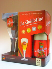 ギロチン 330ml×4本組+専用グラス1個付ギフトセット 【専用箱入り】【ビール】【ベルギー】