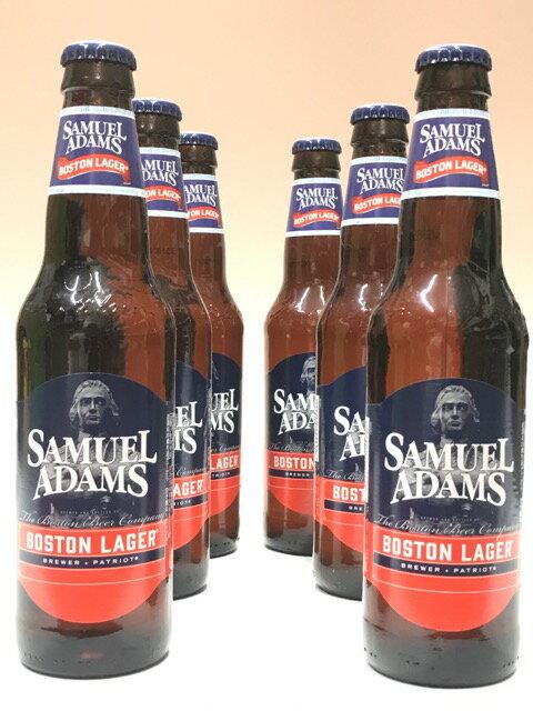 サミエルアダムス・ボストンラガー 355ml×6本組 【ビール】【ビア】【BEER】【アメリカ】【新ラベル】