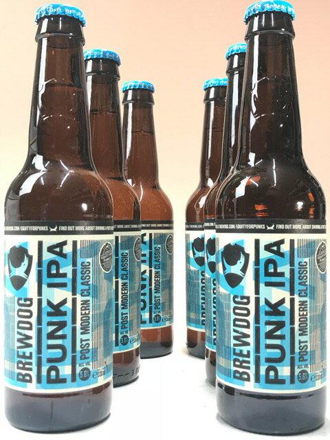 ブリュードッグ・パンクIPA 5.6% 330ml瓶×6本ビールセット 【クラフトビール】【スコットランド】【BrewDog】