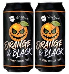 ウィアードビアード・オレンジ&ブラック オレンジチョコレートスタウト 5.5% 440ml缶×2本組 【クラフトビール】【イギリス】【ロンドン】【3月新商品】