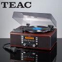 TEAC ティアック社製ターンテーブル&カセット付きCDレコーダー LP-R550USB(ブラウン ウッド調)/CDコピーができるマルチプレーヤー/マルチメディ...
