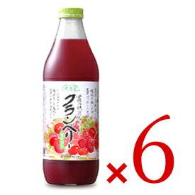 《送料無料》マルカイ 順造選 クランベリー 果汁50% 瓶 1000ml ×6本セット ケース販売 《あす楽》