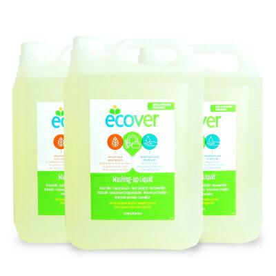 エコベール 食器用洗剤レモン5L × 3個 《あす楽》《送料無料》