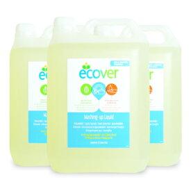《送料無料》エコベール 食器用洗剤カモミール 5L × 3個