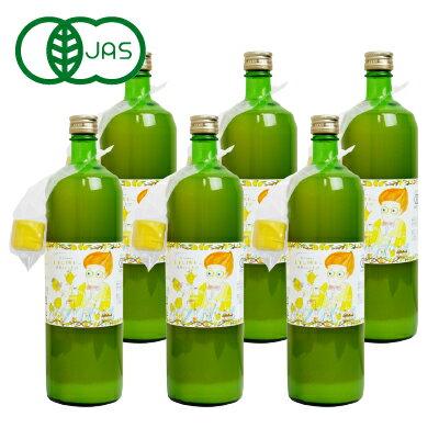 《送料無料》かたすみ 有機レモン果汁 ストレート100% 900ml×6本 有機JAS ケース販売 (旧ケンコーオーガニックフーズ)《あす楽》
