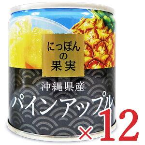 にっぽんの果実 沖縄県産 パインアップル195g × 12個 セット ケース販売