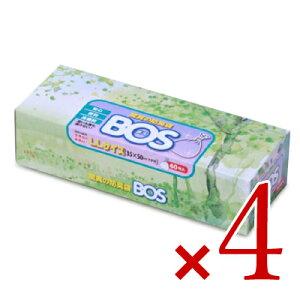 【お買い物マラソン限定!クーポン発行中】《送料無料》クリロン化成 驚異の防臭袋 BOS ビッグタイプ(LLサイズ) 大人用おむつ処理用60枚入り × 4個
