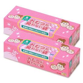 【マラソン限定!最大2000円OFFクーポン】クリロン化成 おむつが臭わない袋BOS (ボス) ベビー用 箱型 Sサイズ(200枚入) × 2個