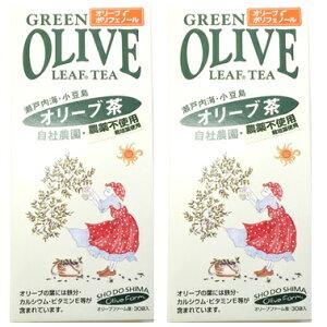 《送料無料》ヤマヒサ 100%小豆島産 オリーブ茶3g×30ティーパック×2個セット《無農薬・無化学肥料栽培》