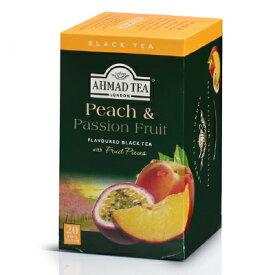 富永貿易 AHMAD TEA アーマッドティー ピーチ&パッションフルーツ 2gティーバッグ × 20袋