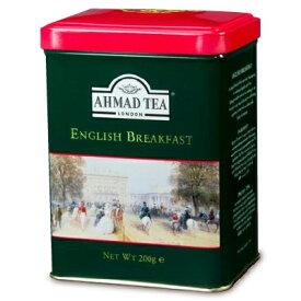 富永貿易 AHMAD TEA イングリッシュブレックファースト リーフティー200g 缶《あす楽》