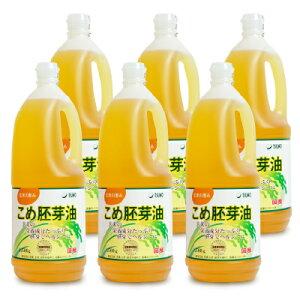 《送料無料》築野食品工業 国産こめ胚芽油 1500g × 6本