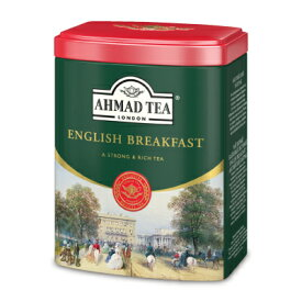 【マラソン限定!最大2000円OFFクーポン】富永貿易 AHMAD TEA イングリッシュブレックファースト リーフティー200g 缶