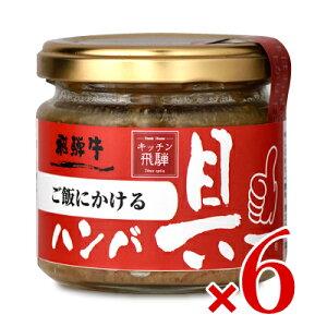 《送料無料》飛騨ハム ご飯にかける飛騨牛ハンバ具ー 120g × 6個 ケース販売