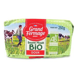 《送料無料》ユーリアル グランフェルマージュ (Grand Fermage BIO) グラスフェッドバター 250g 無塩 正規輸入品 冷蔵手数料無料