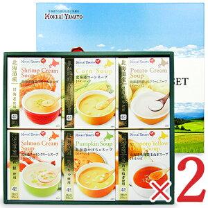 《送料無料》北海大和 北海道スープギフト HS-20B 6種類(各4袋入り)× 2箱 セット