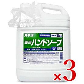《送料無料》【医薬部外品】カネヨ石鹸 薬用ハンドソープ 液体 業務用 5kg × 3個 セット 詰め替え