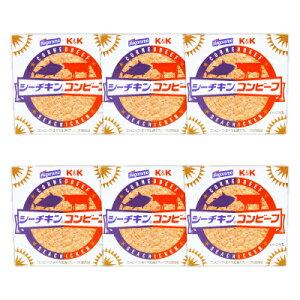 《送料無料》K&K 国分 シーチキンコンビーフ 80g × 6個