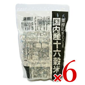 《送料無料》種商 国内産十六穀米 業務用 500g × 6個 ケース販売