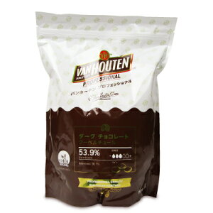 バンホーテン プロフェッショナル ダークチョコレート 53.9% 1kg (1000g)[VAN HOUTEN]《5月-9月は冷蔵便でのお届け》