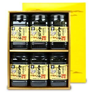 広島海苔 かき醤油味付のり6本入 かき-30M