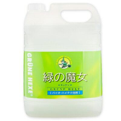 緑の魔女 キッチン (食器用洗剤) 5L 業務用 [ミマスクリーンケア]【無香料 大容量 詰め替え 詰替 お徳用】《あす楽》