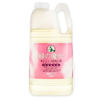 緑の魔女 ランドリー 柔軟剤入り(柔軟剤入 洗濯用洗剤) 2kg 業務用 フローラルの香り [ミマスクリーンケア]【衣類用 液体洗剤 大容量 お徳用】《あす楽》